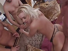 Blowjob, Gangbang, Group Sex, Blonde