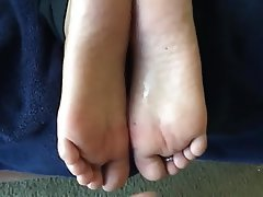 Amateur, Cumshot, Foot Fetish, Footjob
