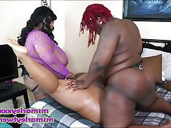 BBW, Big Butts, Lesbian, Strapon