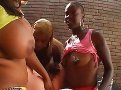 Anal, Lesbian, Interracial, Strapon