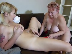 Amateur, Lesbian, Mature, Old and Young, Strapon